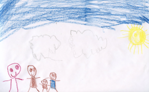Weather art by Aaron, age 5.