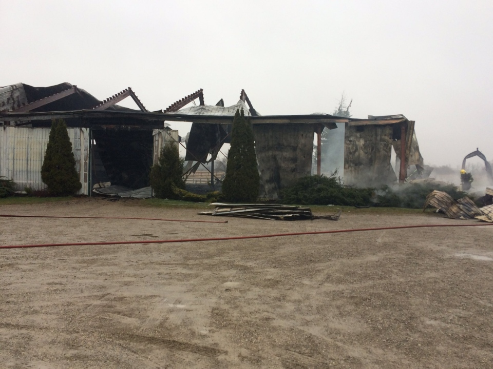 Middlesex Centre fire crews were able to save one horse from a barn blaze on Decker Drive near Lambeth. Five others perish in the fire on Friday, March 31, 2017.
