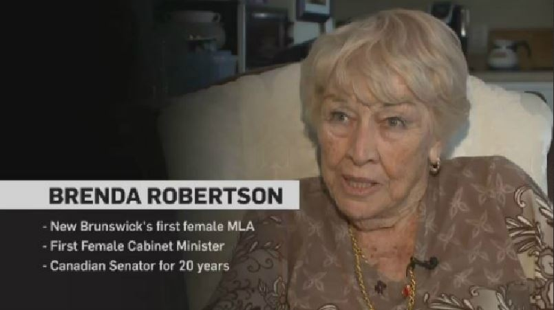 The New Brunswick native was elected to the legislature in 1967 with the Progressive Conservatives. In 1970, she was appointed to the provincial cabinet and was re-elected four times. She was appointed to the Senate in 1984 and served there until 2004.