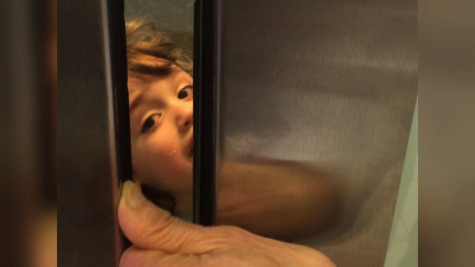 A local mother is speaking out after her toddler was stuck in an elevator in Metropolis at Metrotown. (CTV)