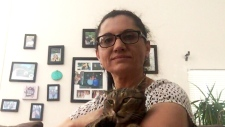 Owner of 'BooBoo' the cat, Olga Chmelicek