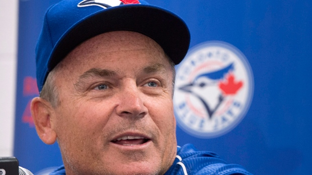 Toronto Blue Jays manager John Gibbons comments on his contract extension through the 2019 season with a club option for 2020, Saturday, April 1, 2017 in Montreal. THE CANADIAN PRESS/Paul Chiasson