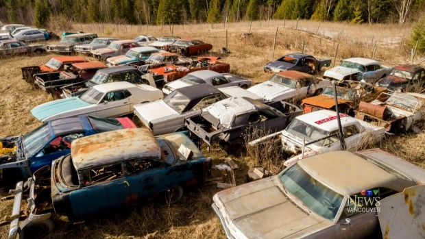 Listed for $1.45-million, seller Michael Hall is throwing in the cars he's been collecting for 40 years. (Century 21)