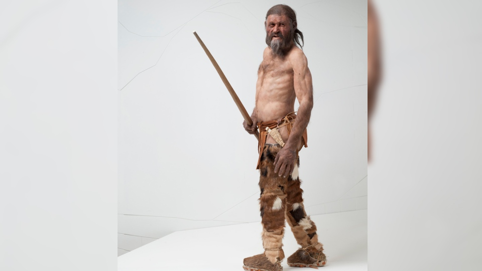 The Iceman's reconstruction by Alfons & Adrie Kennis. (South Tyrol Museum of Archaeology/Ochsenreiter)