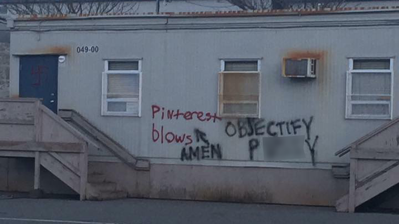 Hateful graffiti
