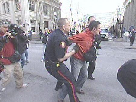 Bush protestor