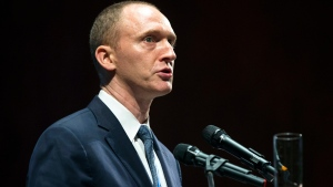 In this Friday, July 8, 2016, file photo, Carter Page, then adviser to U.S. Republican presidential candidate Donald Trump, speaks at the graduation ceremony for the New Economic School in Moscow, Russia. (AP Photo / Pavel Golovkin)