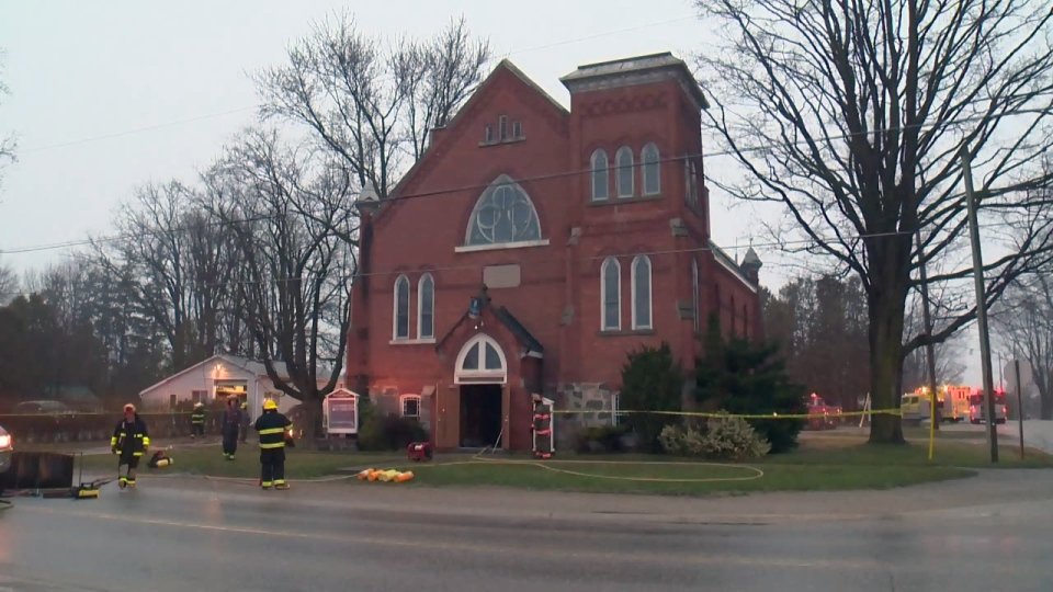 40 firefighters were called to St. Andrew's Presbyterian Church in Molesworth on Tuesday, March 4, 2017.