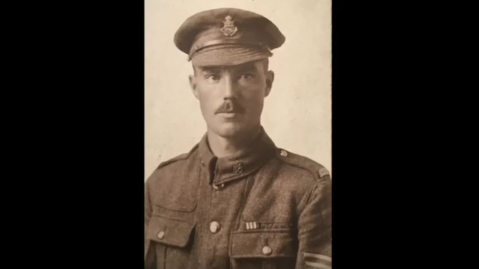 Harold James Dowling fought in the Battle of Vimy Ridge with the 151st Battalion of the Canadian Expeditionary Force. (Lori Dowling/YouTube)