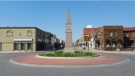 A perspective sketch of a memorial clock planned for Erie Street in Windsor, Ont. (Courtesy Erie Street BIA)