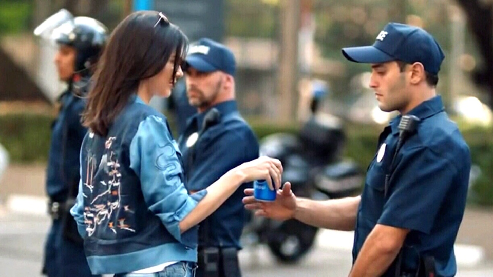 Kendall Jenner is seen in this image from video. (source: YouTube / Pepsi Global)
