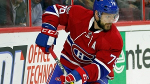 Montreal Canadiens defenceman Andrei Markov is shown in this file photo. (AP / Tom Mihalek)
