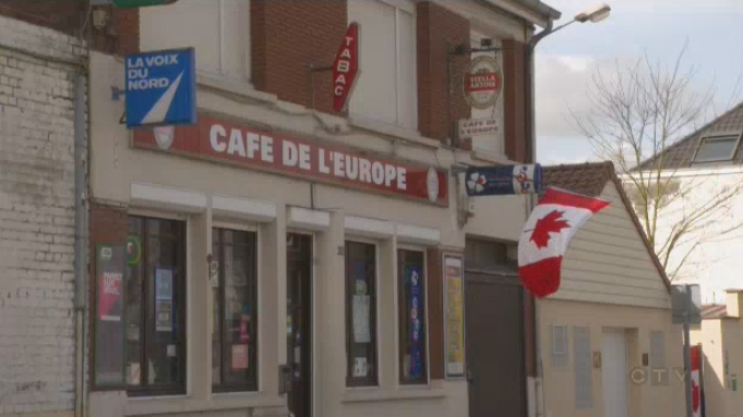 Canadian flags are hung throughout Givenchy, a small village in France that lies near Vimy Ridge. In honour of the 100th anniversary of the historic battle, the village has dubbed 2017 the year of Canada.