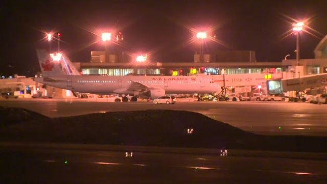 The Air Canada flight was on its way from Toronto to Vancouver when it had to make an emergency landing in Calgary.