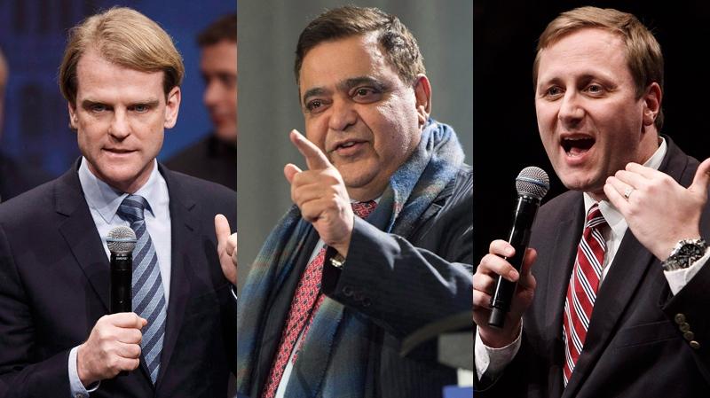From left: Chris Alexander, Deepak Obhrai, and Brad Trost (CP images)