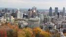 This Oct. 21, 2013 photo shows a view of downtown Montreal taken from Mount Royal park. (Caryn Rousseau/AP)