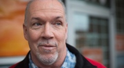 British Columbia NDP Leader John Horgan speaks to a reporter after unveiling his election campaign bus in Burnaby, B.C., on Tuesday April 4, 2017. A provincial election will be held on May 9. THE CANADIAN PRESS/Darryl Dyck