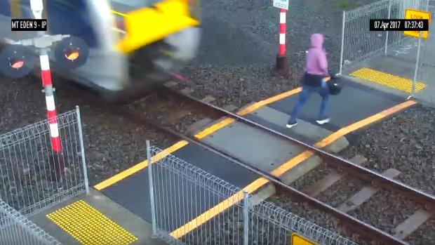 Close call: Warning after woman nearly struck by train | CTV News
