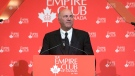Conservative leadership candidate Kevin O'Leary speaks at the Empire Club luncheon in Toronto, on Friday, April 7, 2017. (THE CANADIAN PRESS/Chris Young)