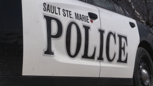 Sault Ste. Marie Police are at the scene of a single-vehicle collision Friday that sent a man and a woman to the hospital with serious injuries. (File)