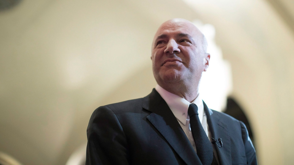 Federal conservative leadership candidate Kevin O'Leary prepares to speak at the Empire Club luncheon in Toronto, on Friday April 7, 2017. (Chris Young / THE CANADIAN PRESS)