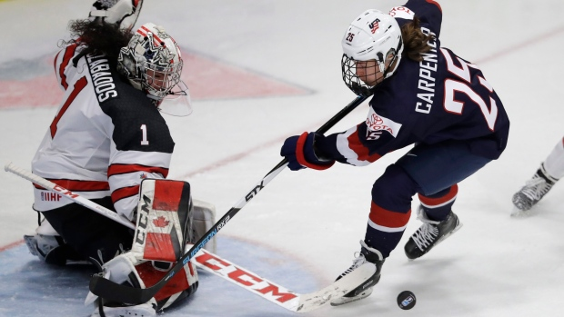 79105d00f75 U.S., Canada women favourites for hockey world championships | CTV News