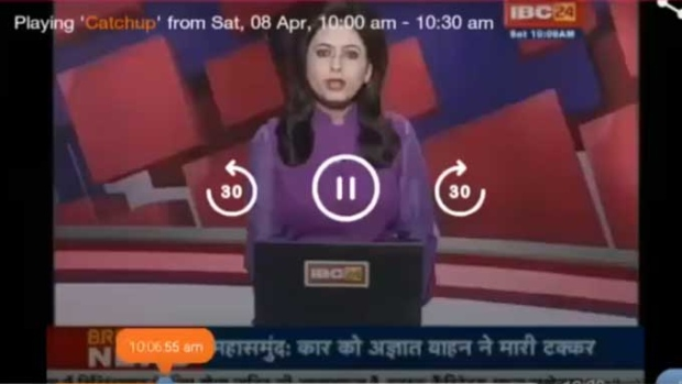 Indian news anchor learns of husband's death on live TV | CTV News