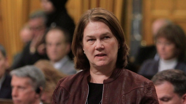 Health Minister Jane Philpott stands during Question Period in the House of Commons in Ottawa, Thursday, April 6, 2017. (THE CANADIAN PRESS/Fred Chartrand)