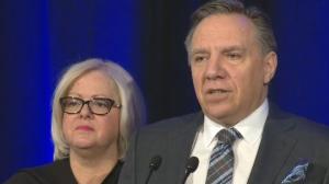 CAQ leader Francois Legault criticized Health Minister Gaetan Barrette for failing to reach his goal of cutting wait times for Quebecers to get a family doctor to 30 or 90 days. Legault said documents show wait times can still be as high as 16 months.
