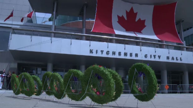 Veterans, cadets and residents all gathered at Kitchener City Hall to mark the 100th anniversary of Vimy Ridge.