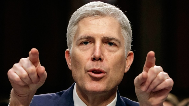 Gorsuch takes first of two oaths in private ceremony