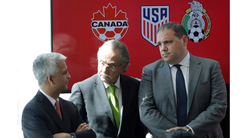 Canada, U.S. and Mexico launch bid for 2026 FIFA World Cup