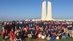 Students and local politicians attended Vimy's 100th commemoration in France this past weekend.  (Vimy17Orillia/Twitter)