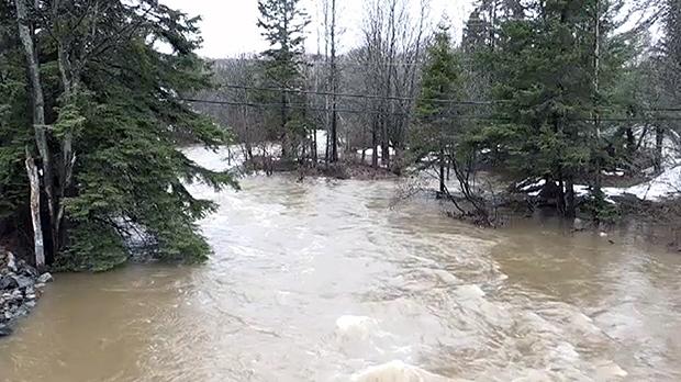 Sault Ste. Marie flood waters