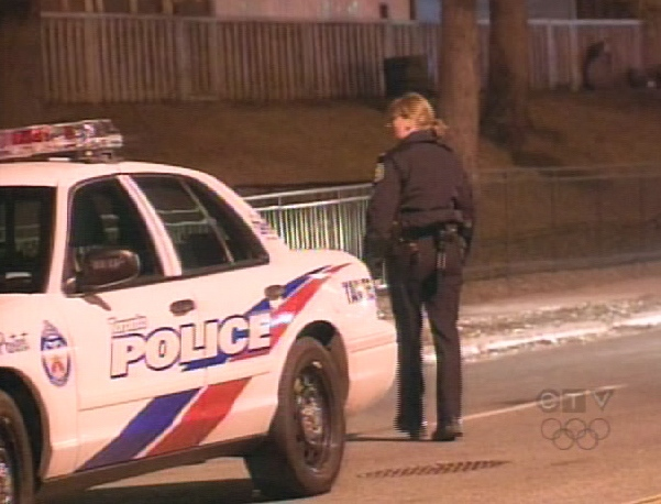 Police responded to a shooting inside an apartment building in Flemingdon Park on Tuesday, March 17, 2009.