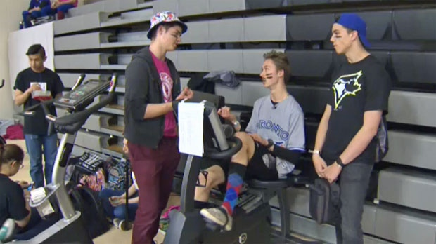 Airdrie High School Students Use Pedal Power To Stamp Out
