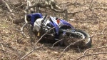 A man was taken to hospital after losing control of his motorcycle near West Montrose on April 11, 2017.