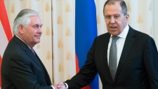 Rex Tillerson and Sergey Lavrov in Moscow