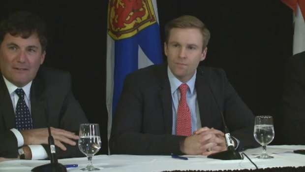 New Brunswick Premier Brian Gallant speaks to the media on Wednesday, April 12, 2017.