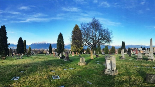 Vancouver's Mountain View Cemetery is seen in a photo posted to Instagram by @7nicka.