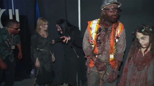 Zombies roam in Montreal as part of the Fear the Walking Dead exhibit
