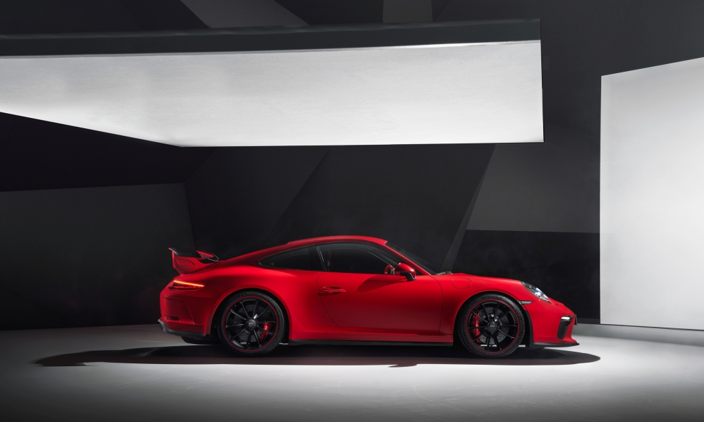 The 2018 Porsche 911 GT3, available with a manual