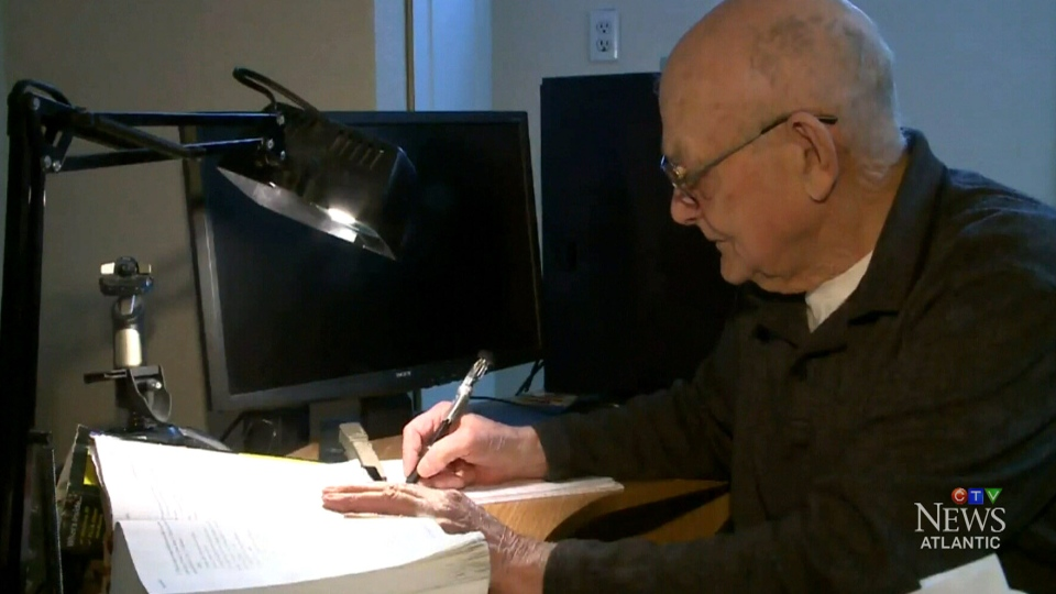 Rodrigue 'Rocky' Boudreau has found a passion for handwriting the bible, as he copes with his terminal cancer diagnosis.