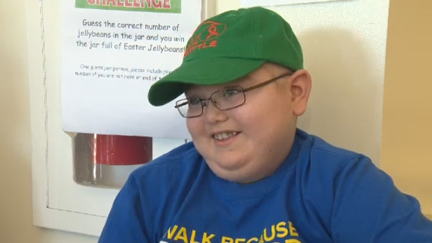 Sean Jollymore, 10, was diagnosed with leukemia last year, but says he's not letting the illness bring him down.