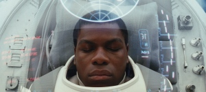This image released by Lucasfilm shows John Boyega as Finn in a scene from the upcoming 'Star Wars: The Last Jedi,' expected in theaters in December. (Industrial Light and Magic / Lucasfilm via AP)