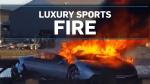 Lamborghini engulfed in flames