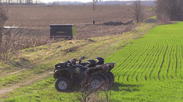 OPP in Huron County, assisted by the Office of the Chief Coroner, conducted a death investigation at a rural property near Blyth on Friday, April 14, 2017. (Scott Miller / CTV London)