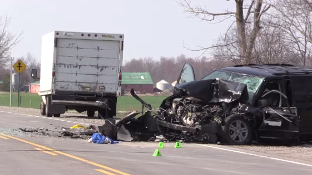 Highway 4 crash fatal Middlesex London