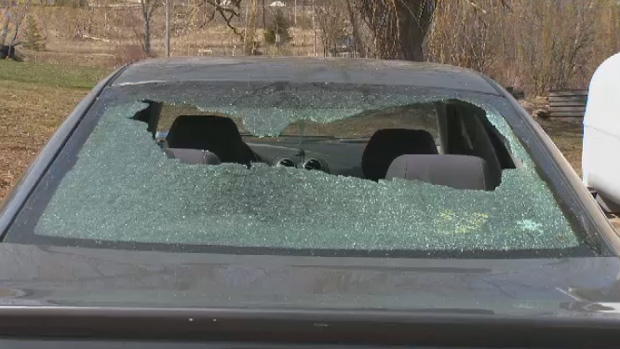 A couple from WIndsor, N.S., is searching for answers after a chunk of ice slammed through their vehicle from the middle of nowhere.