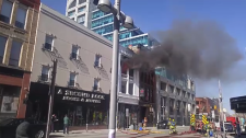 downtown kitchener king street fire